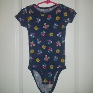 Carters girls 24 month blue flower onesies